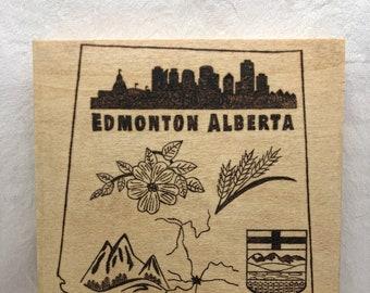 Wood Burned Edmonton Alberta Sign