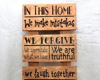 Wood Burned Forever Family Sign