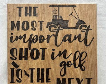 Wood Burned Golf Sign
