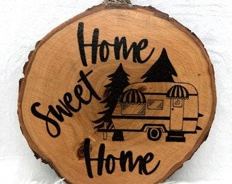Wood Burned Home Sweet Home Sign