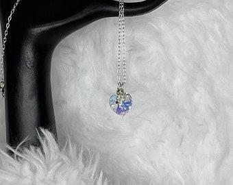 Sterling Silver Swarovski Heart Pendant