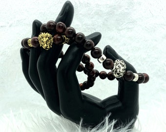 Lion Beaded Stretchy Bracelet