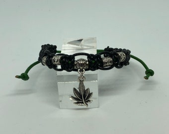 Cannabis Leather Bracelet