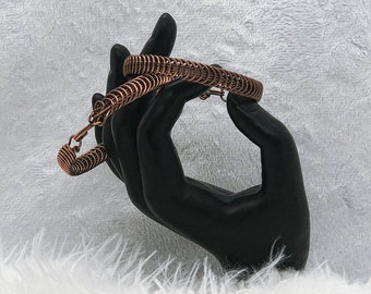 Antique Copper Bracelet - Spiral