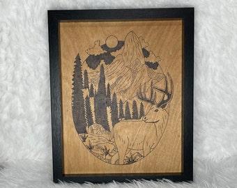 Wood Burned Nature Art