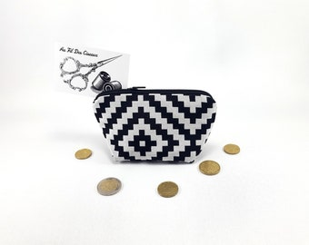 Wallet / / women wallet / / fabric purse / / cosmetic //Compagnon - black graphic
