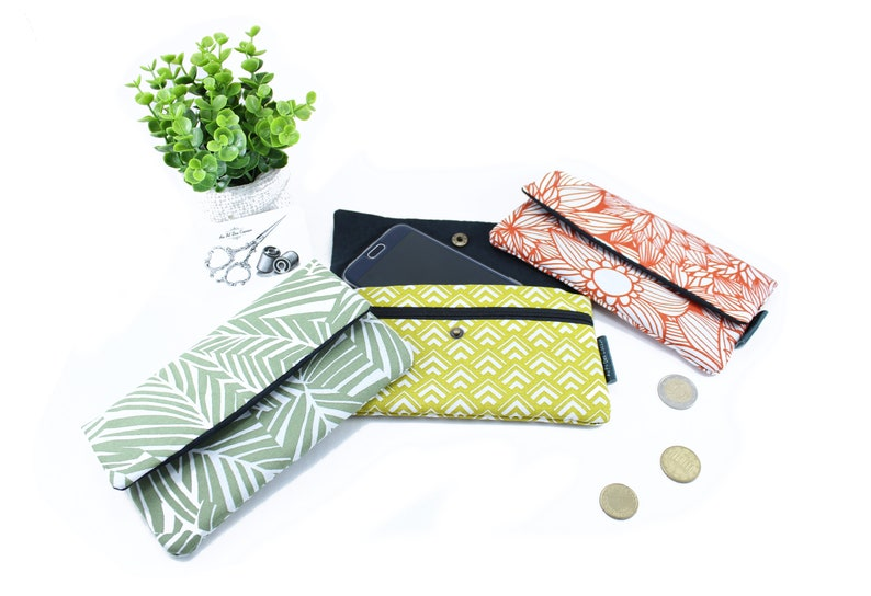 Cotton phone pouch//phone case//iPhone pouch/Samsung image 0
