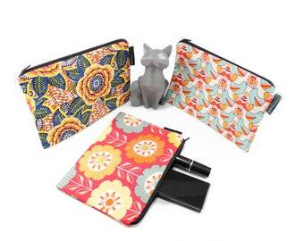 Flat cotton kit // Make-up kit // Handbag pouch