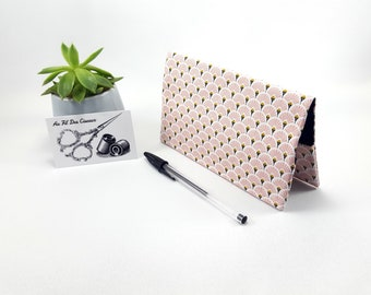 Checkbook / / checkbook woman / / pink fabric checkbook - range
