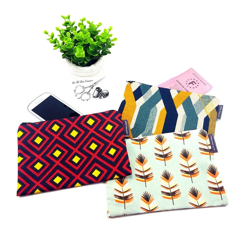 Kit flat cotton / / cosmetic case / / clutch handbag image 0
