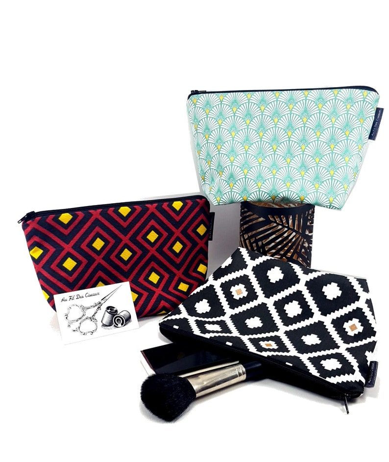 Cotton travel bag / / cosmetic case / / medicine pouch / / image 0