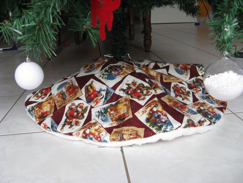 Deco De Noel Originale décoration de sapin réversible , cache-pied de sapin, modèle