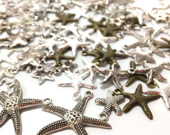 SET OF 120 STARS CHARMS
