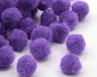 X 10 tassels purple 10mm without hook