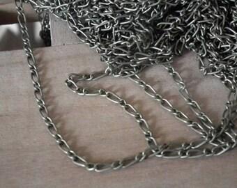 X 3 meters of fine chain-link antique bronze ♥ ♥