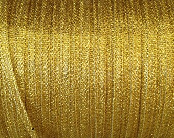 x20m Ribbon satin 4mm gold