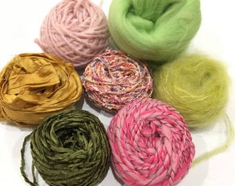 "Kit creation ""wall weaving"" roving fancy handmade"