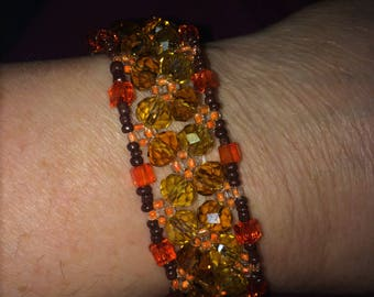 Gorgeous Handmade Beaded Bangle Bracelet