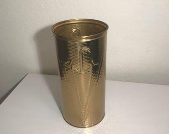 Vintage brass umbrella stand golden 1960's