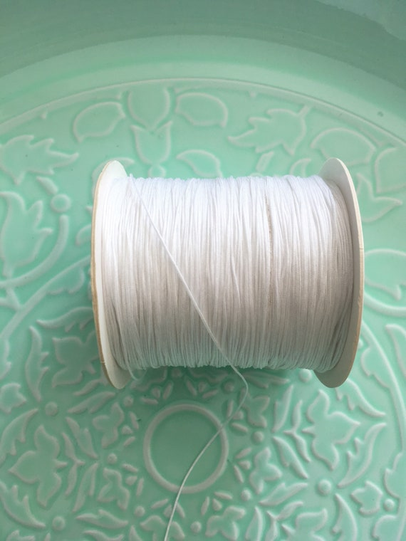 70 Metres x 0.5mm White Nylon Thread