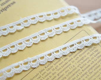 "20 yards 1 1//4/"" flat cluny style cream lace"