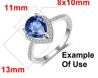 8x10 MM Oval Shape Without Gemstone 925 Sterling Silver Antique Design Ring Setting Calibrated Size Gemstone Unique Ring Setting Unset Ring