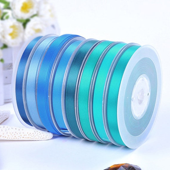 APPROX 6 YARDS 6MM  BABY BLUE SATIN RIBBON FOR CARDS OR CRAFTS