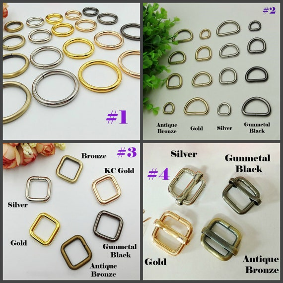"""THICK//STRONG LEATHER CRAFT 25 x WELDED NICKEL O RINGS 1.5/"""" 37mm"""