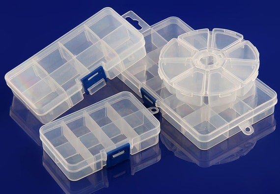 Organizer Plastic Clear Transparent Case Storage Lid Collection Container Box