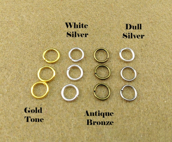 300pcs Jump Rings Open Round Gold Silver Bronze Black Metal Jewellery Findings