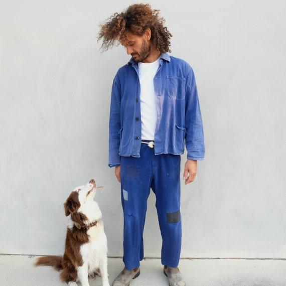 "Vintage Indigo Workwear ""Friendship"" Chore Jacket"