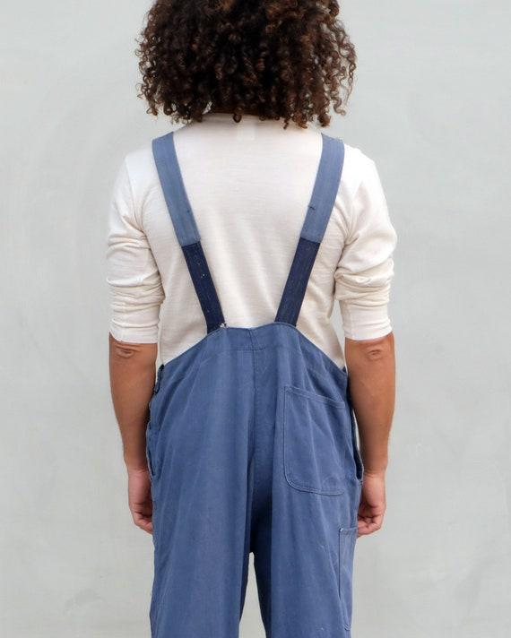 Overalls - Unisex indigo workwear with patchwork. - image 5
