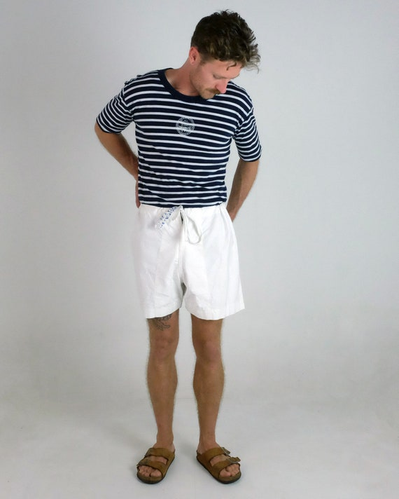 Vintage Sailor Shorts With Anchor Stamp