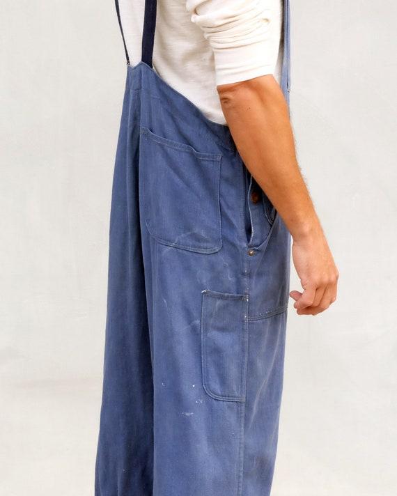 Overalls - Unisex indigo workwear with patchwork. - image 6