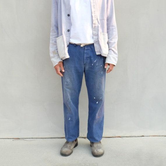 Vintage Indigo Workwear Chore Pants - Unisex