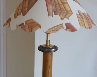 Lampshade book and his lamp foot spool