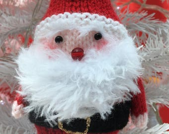 Father Christmas Hand-knitted Bauble