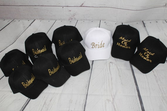 Bridal Party Hats Bachelorette Party Hats Bride and  8af81150ef9