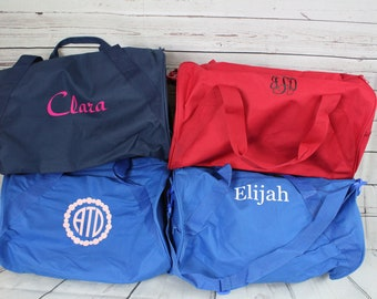 Monogrammed Duffle Bag | Personalized Kids Barrel Bag | Great for Sleepovers |  Weekend Duffel |  Vacation Duffle