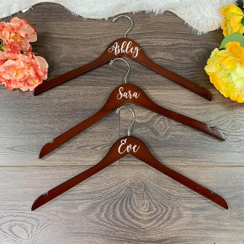 Bride Hanger 2 Personalized Wedding Hangers Bridesmaid Hangers for dresses
