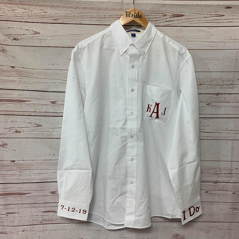 Monogram Button Up Shirt For Bride Personalized Gift for Bridesmaids SALE Personalized Button Down Shirt for Her
