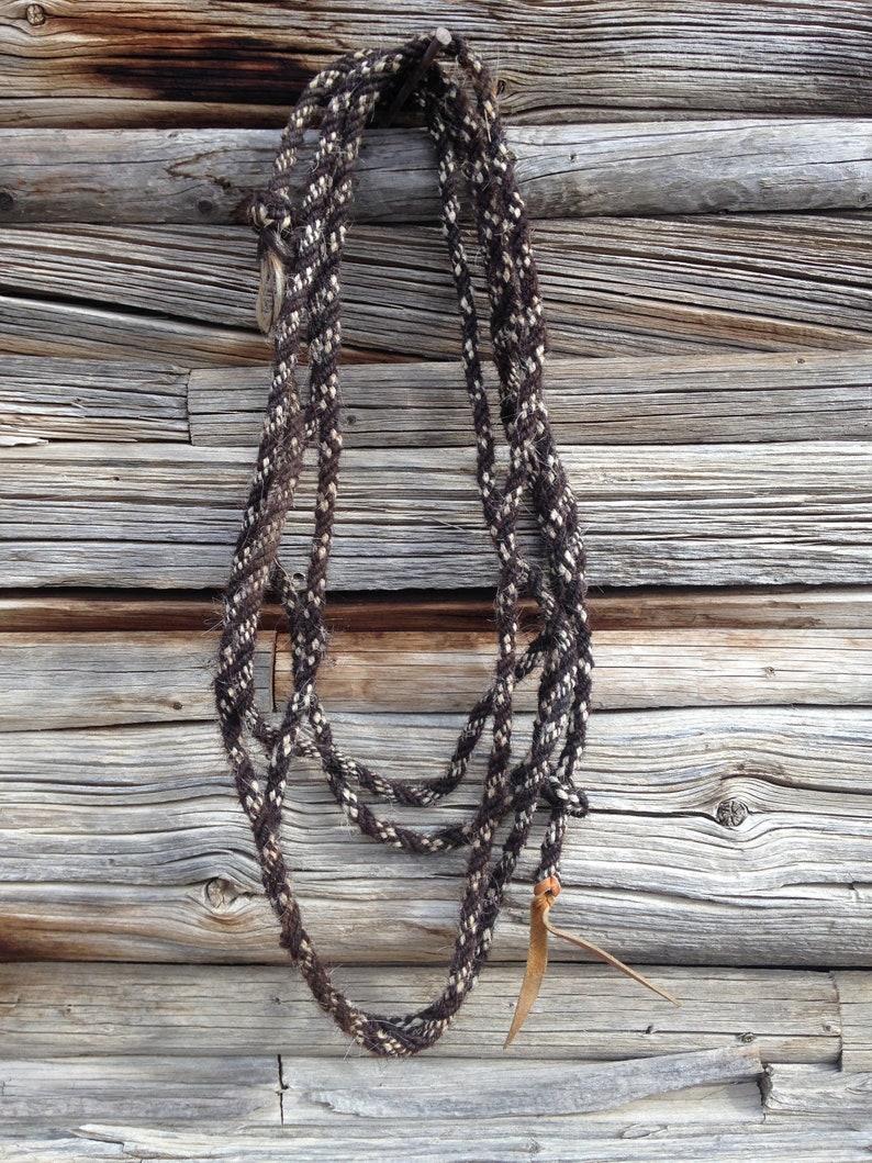 7b5c7baef49 Horsehair Rope Hand Braided 1/2 inch Mecate Rein/Handmade Horsehair  Rope/Vintage Horsehair Rope/Black and Tan Rope/23.5 Foot