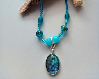 Reduced necklace sky blue/Turquoise