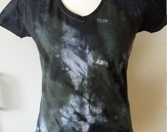 Shirt BLACKY V-Neck L black/white