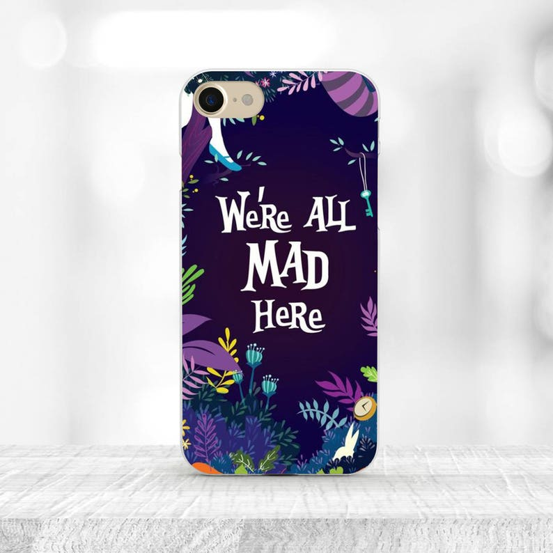 new style 1cd03 5f847 Disney Alice in Wonderland iPhone 8 Case We're all mad here iphone 7 plus  Alice Galaxy s7 Case Disney iPhone 8 plus Disney case iphone 7 SE