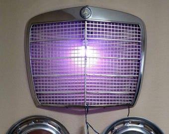 Mercedes Grill repurposed as Light with Hubcap Accessories