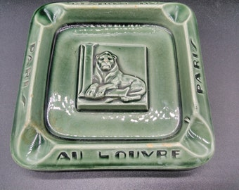 faience lion / ashtray vintage / ashtray collection