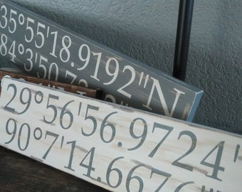 Coordinates Sign Etsy