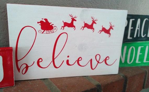 believe christmas sign christmas wood sign christmas decor