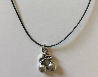 Necklace with silver cherry pendant